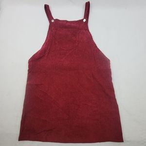 NWT lightweight burgandy corduroy skirt jumper